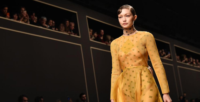 Gigi Hadid Closes Karl Lagerfeld's Last Fendi Show