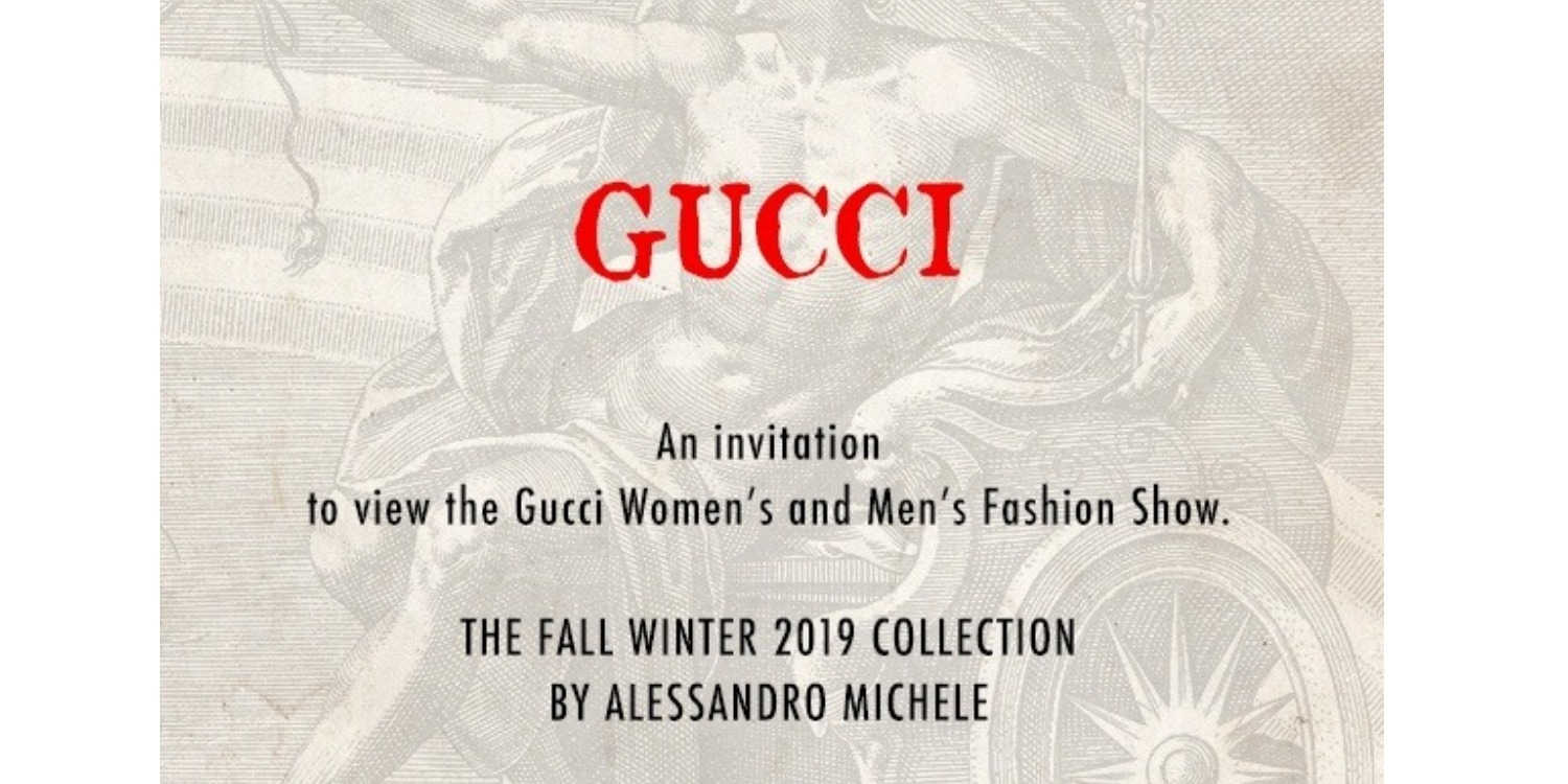 Catch The Gucci Fall/Winter 2019 Runway Show Live!