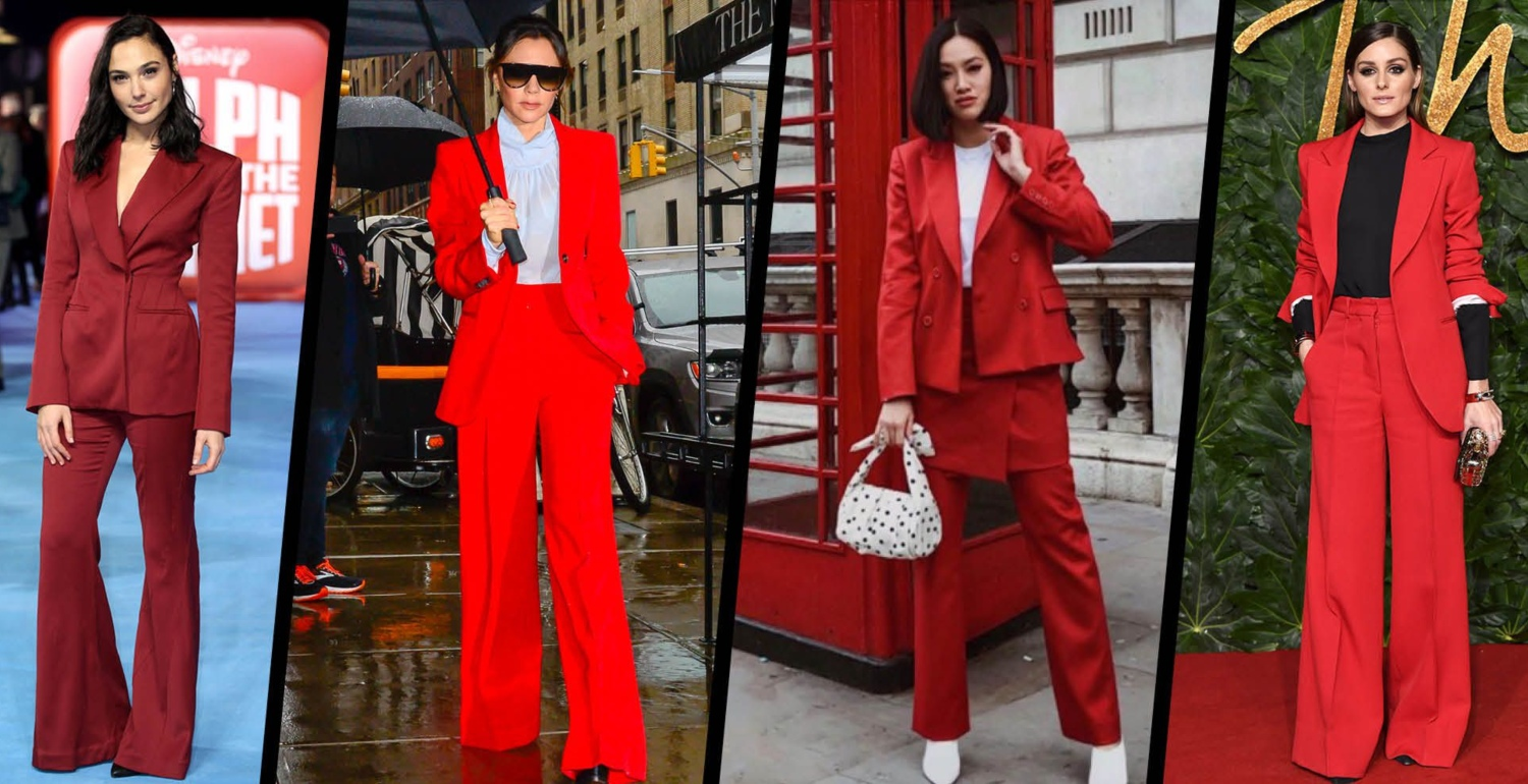 Trend Watch: Red Trouser Suits