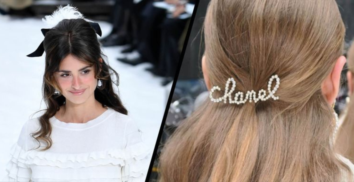 Feathers, Bows And Brooches: The Hair At Chanel Autumn/Winter 2019 Was The Prettiest Yet