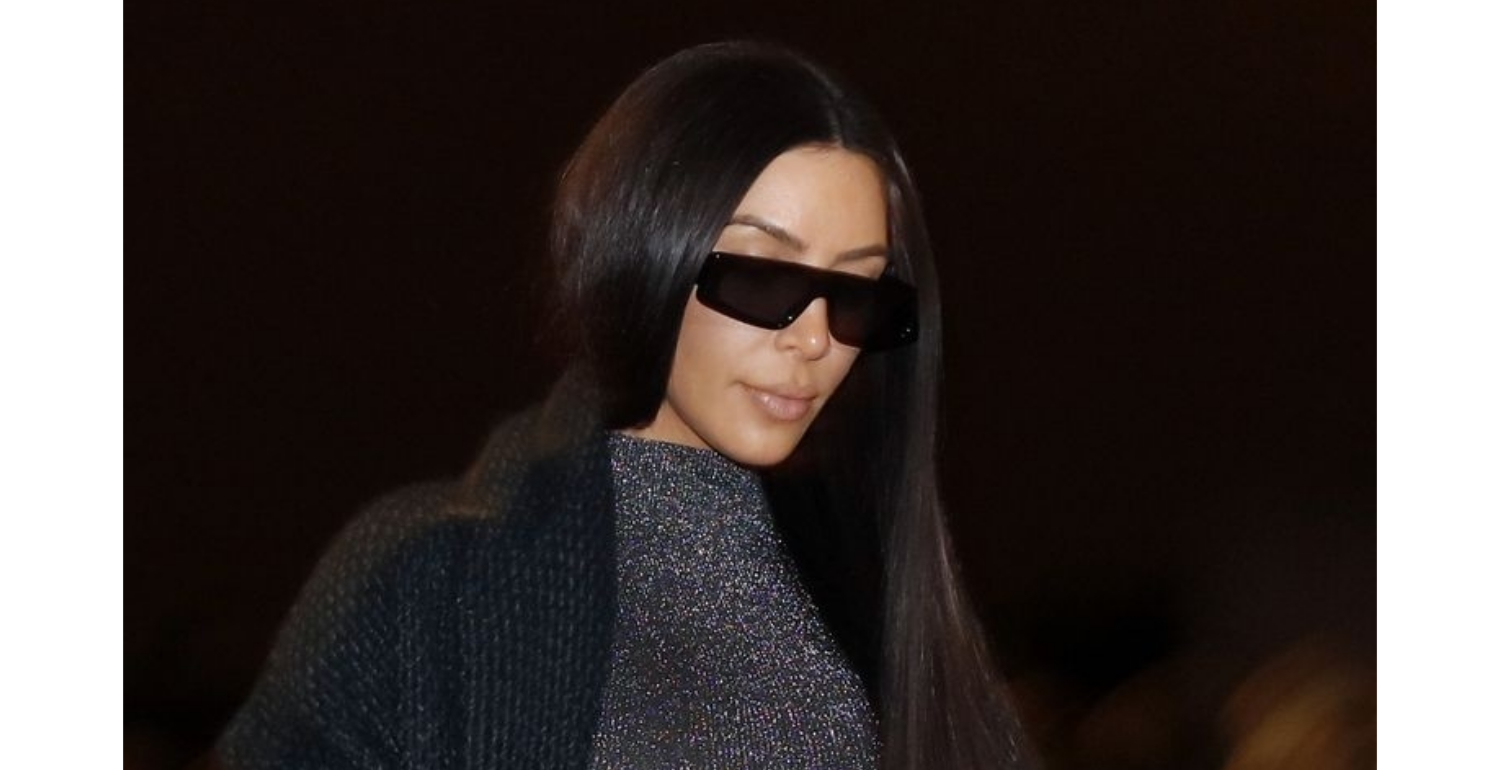 Kim Kardashian's Sparkly, Skintight, and See-Through Catsuit Is So Revealing