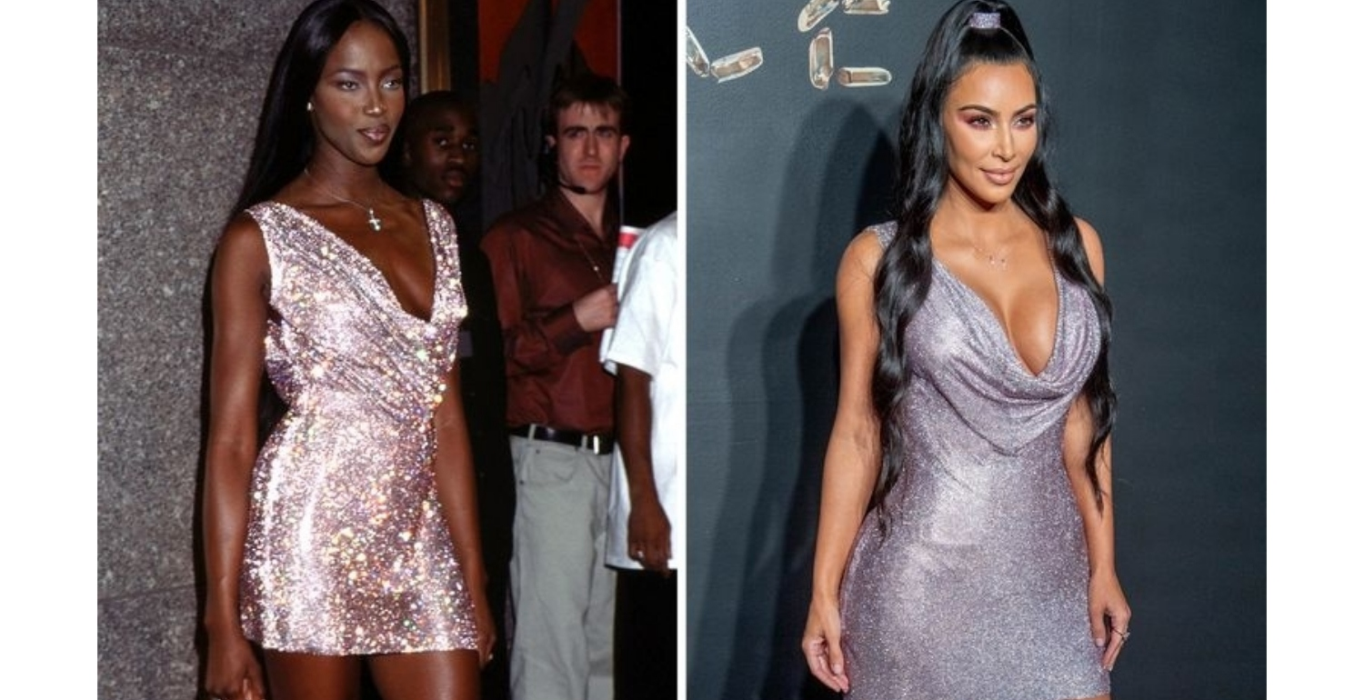 Kim Kardashian Keeps Wearing Naomi Campbell's '90s Looks