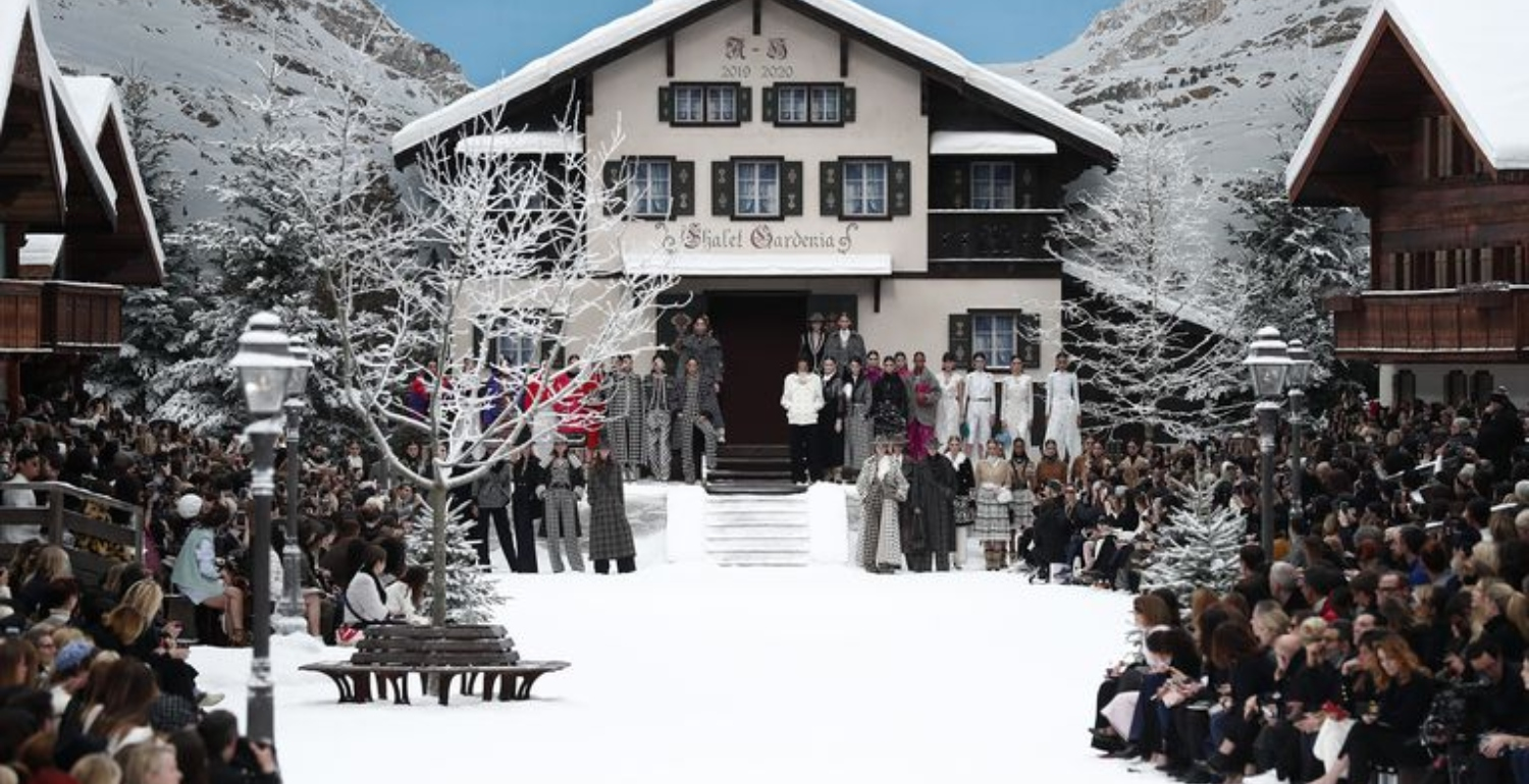 Chanel Creates A Snow-Covered Winter Wonderland For Karl Lagerfeld's Last Show