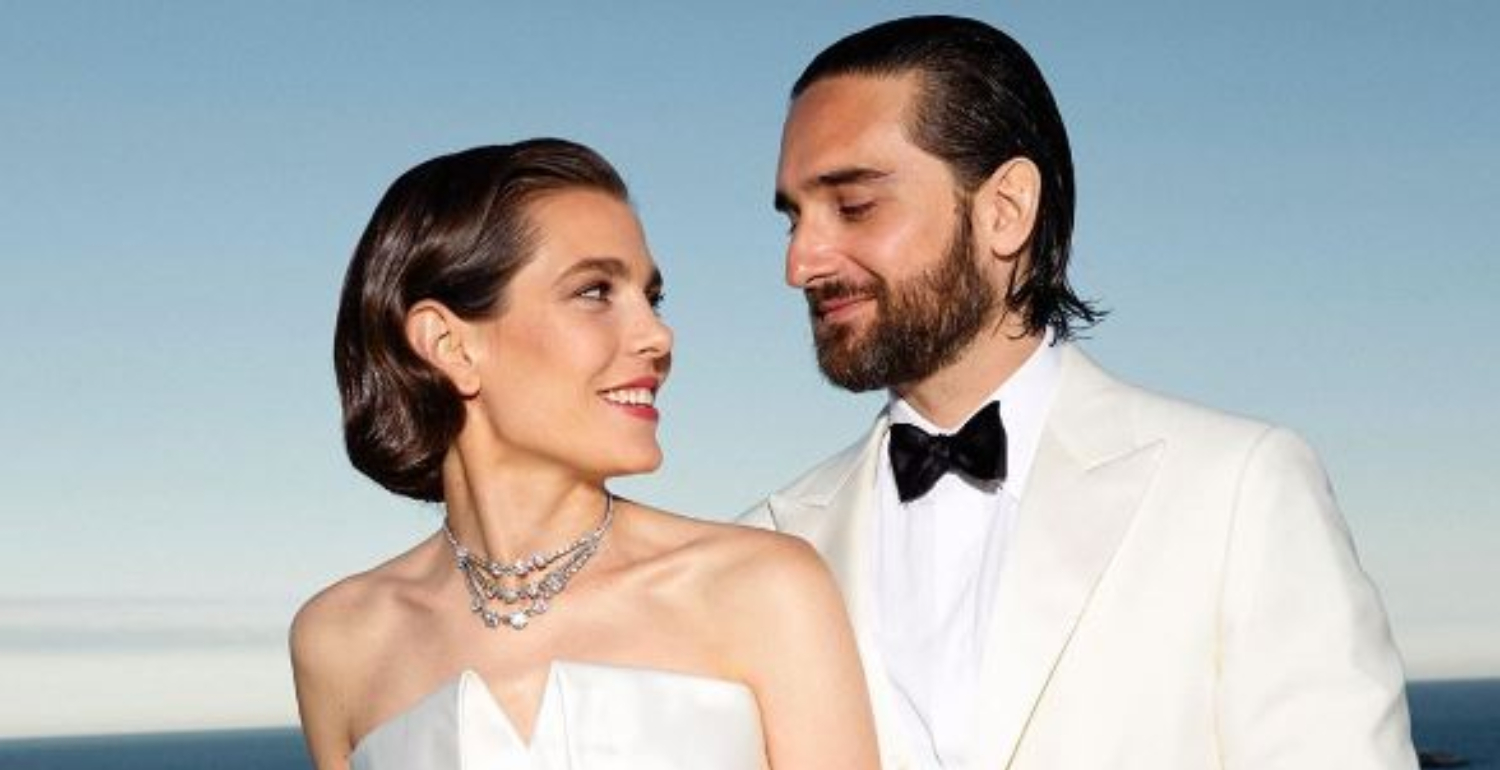 Grace Kelly's Granddaughter, Charlotte Casiraghi, Gets Married In Saint Laurent And Chanel
