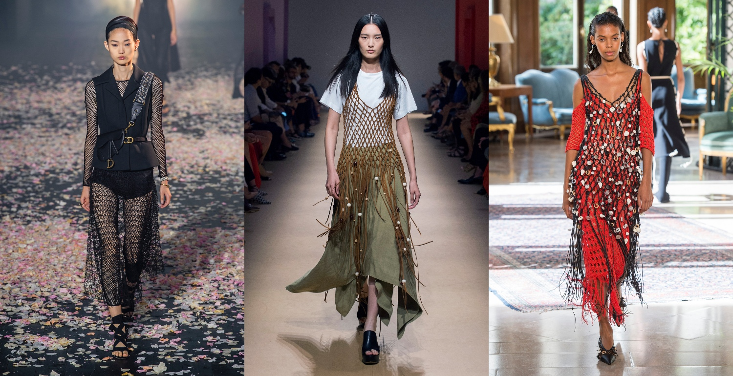 This Summer's Biggest Trend Is Fishing Nets Worn As Dresses