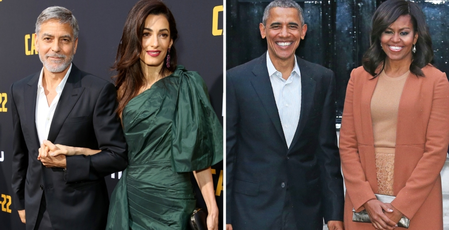 The Obamas And Clooneys Have A Chic Double Date In Lake Como