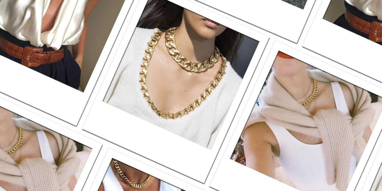 Heavy Gold Chain Necklaces Are About To Take Over