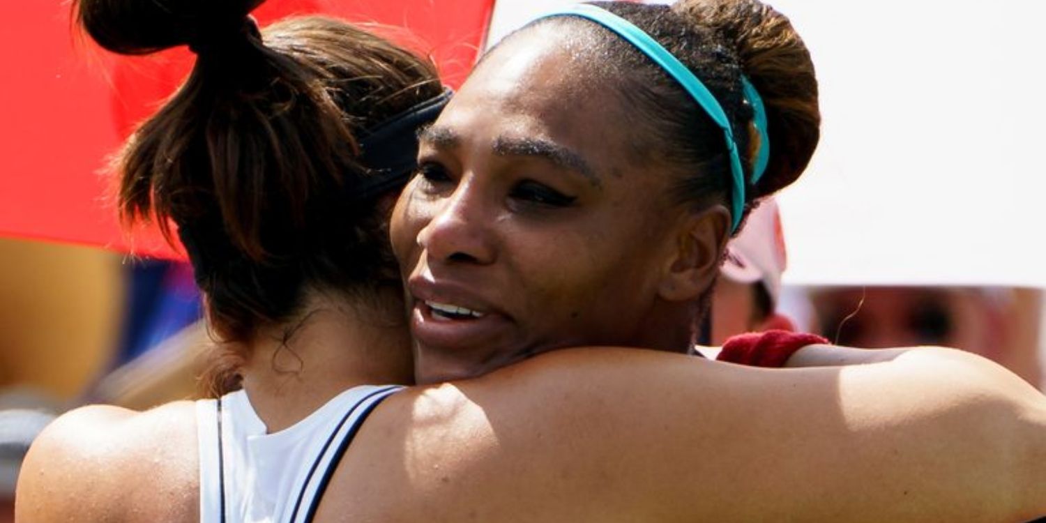 Serena Williams And Her Opponent Uplift Each Other With A Post-Match Hug