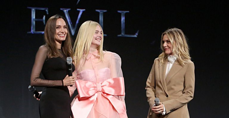 Angelina Jolie Rocks The Highest Leg Slit As She Promotes Maleficent: Mistress Of Evil