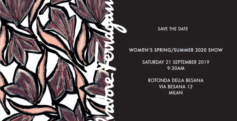 LIVESTREAM: Ferragamo Spring 2020 Show