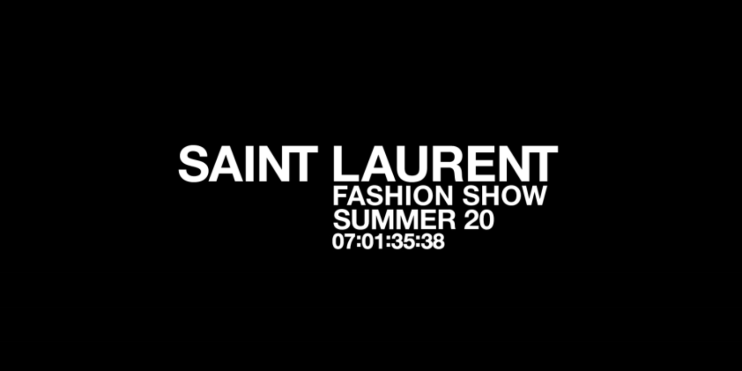 LIVESTREAM: Saint Laurent Spring/Summer 2020 Show