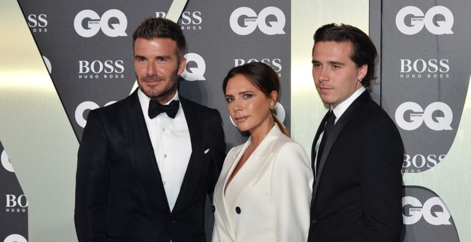 The Beckhams Match In Suits On The Red Carpet