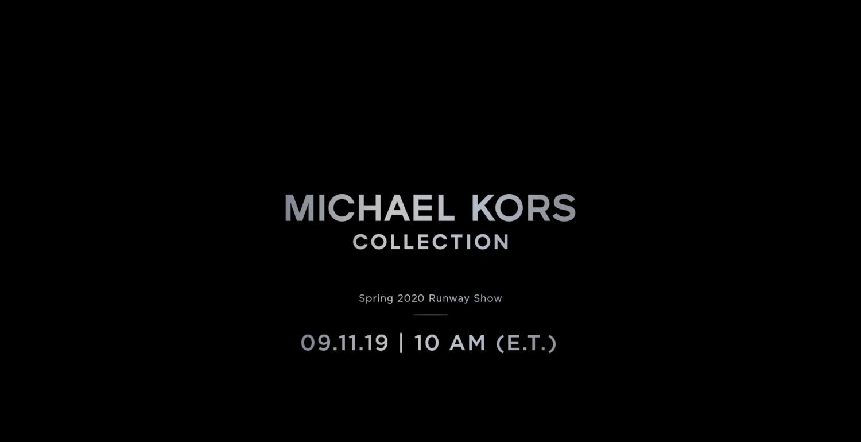 LIVESTREAM: Michael Kors Spring/Summer 2020