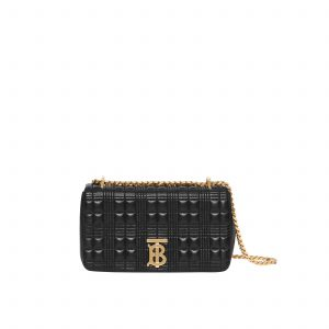 Small Quilted Check Lambskin Lola Bag