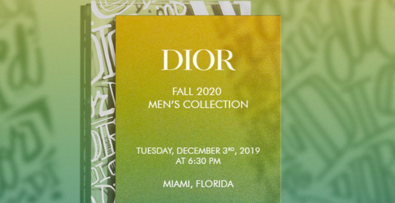 LIVESTREAM: Dior Men's Pre-Fall 2020 Show In Miami