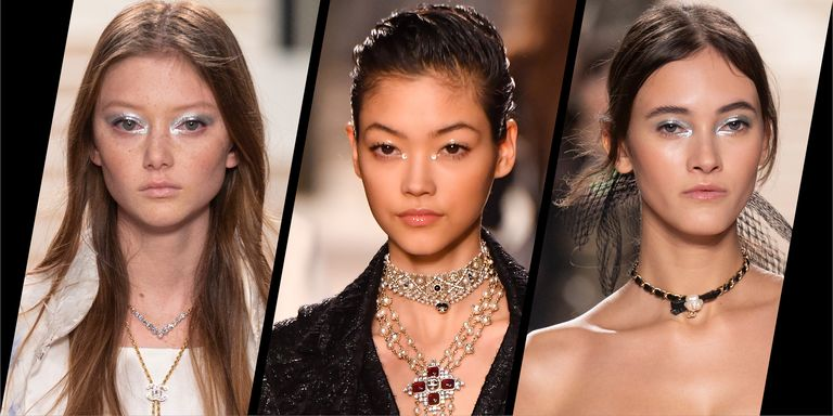 The beauty look at Chanel's Metiers d'Art show was perfectly festive