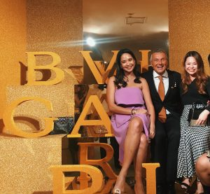 Elyza Khamil, CEO of Bvlgari, Jean- Christophe Babin, and Angelline Lau of Bvlgari Malaysia