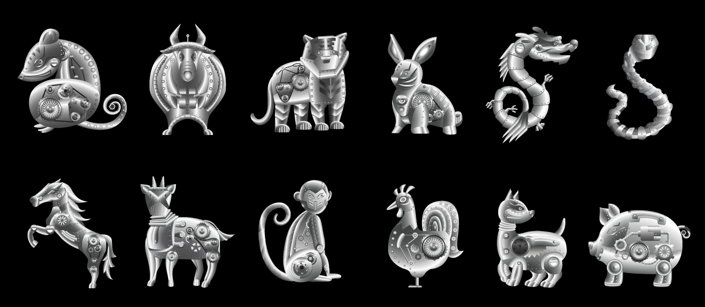 12 Chinese Zodiac 2020