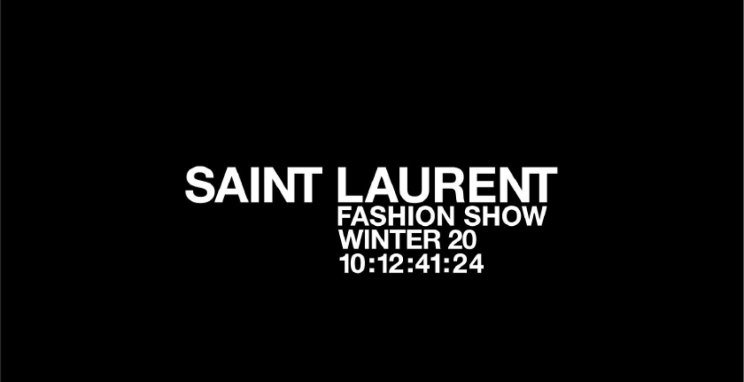 LIVESTREAM: Saint Laurent Autumn/Winter 2020 Show