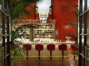 The hotel's Coral Room, designed by award-winning Martin Brudnizki