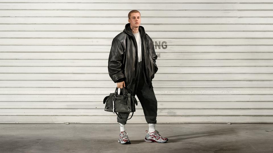 Bieber in Balenciaga
