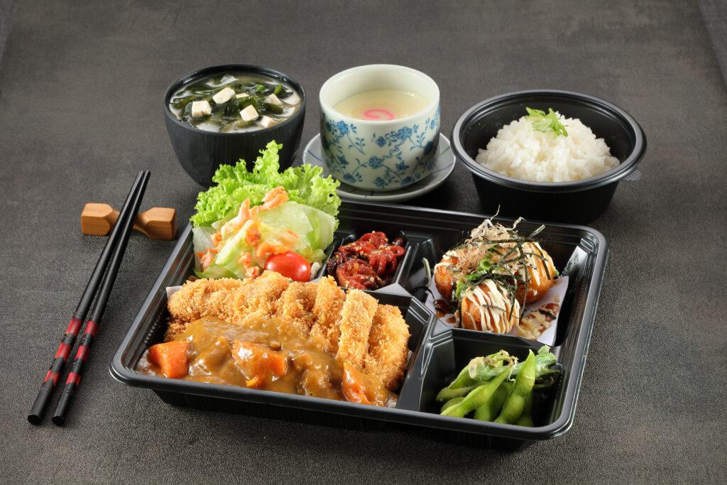 5. Chicken Katsu Curry To Tako Yaki Bento Set
