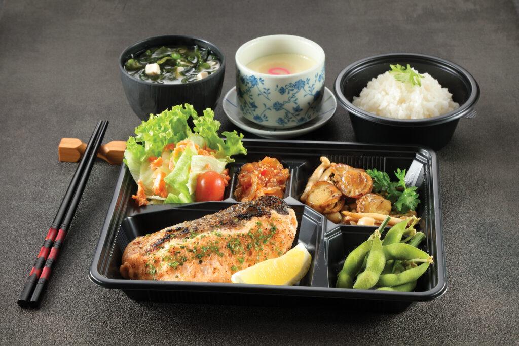 8. Salmon Mentai Yaki To Hotate Kinoko Butter Itame Bento Set
