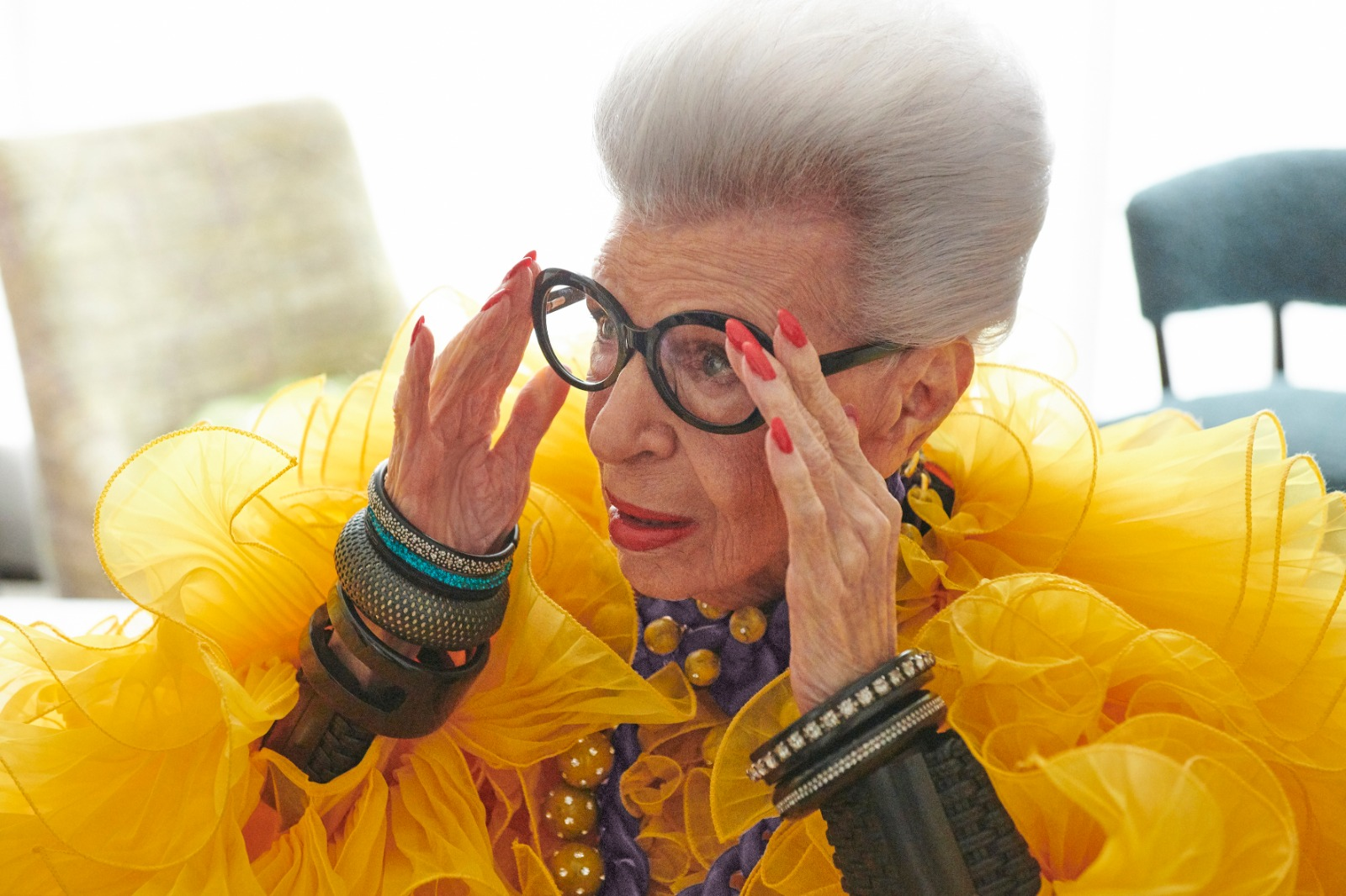 Iris Apfel recently celebrated her 100th birthday.