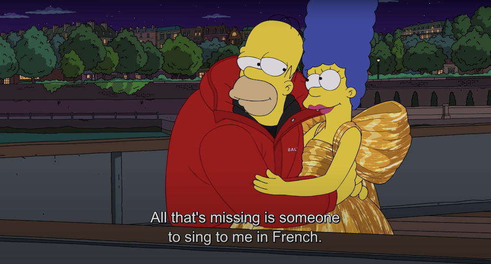 The Simpsons Balenciaga Summer 2022